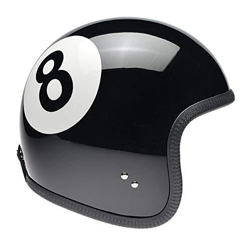 Davida Speedster V3 Eight Ball Open Face Helm Jethelm Motorradhelm, XL (60)