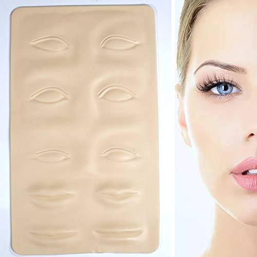 10 piezas tatuaje simulación piel cejas faciales ojo labio tatuaje práctica simulación de silicona tatuaje práctica piel