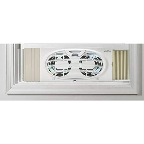 Lasko Twin Window Fan, White