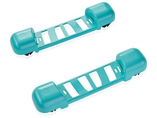 Leifheit Clean Twist Ergo Rollwagen für rückenschonende Bodenreinigung, schieben statt tragen mit 360°-Rollen, passend für alle Leifheit Clean Twist Ergo Systeme