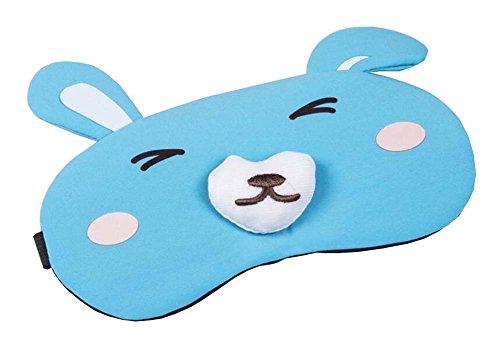 Masque de sommeil confortable pour Voyage, Nap - Lapin Bleu