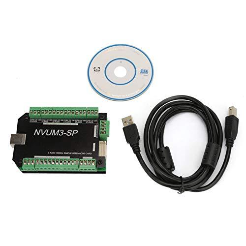 CNC Motion Controller, Chacerls Motion Control Karte USB MACH3 Motion Controller Karte 100kHz Karte für Schrittmotor NVUM3-SP