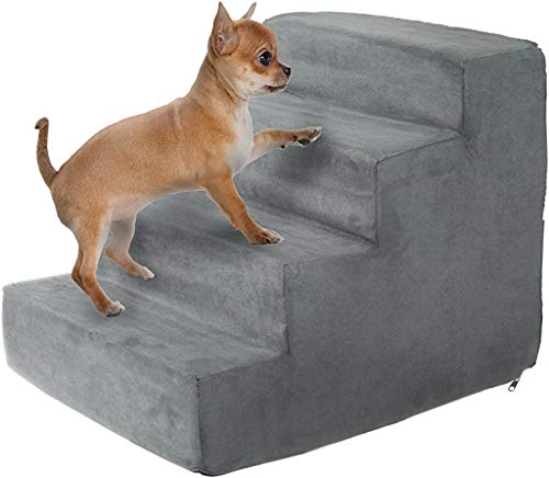 PETMAKER High Density Foam Pet Stairs Collection - Zippered Machine Washable Micro-Fiber Cover with Non-Slip Bottom