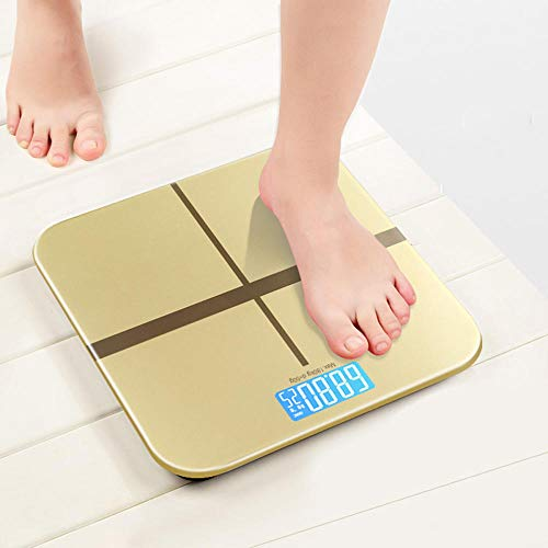 B/H Báscula de baño Digital,Balanza electrónica-Golden_Rechargeable,Escala Personal Digital Inteligente,