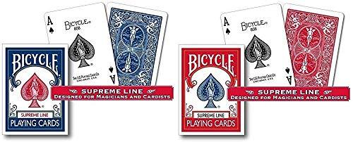 Bicycle 2 mazzi Carte Supreme Line - (Blu-Rosso)