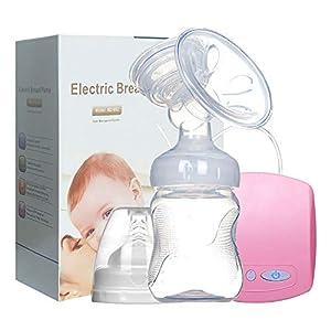 Extractor de leche eléctrico, Extractor de leche individual sin dolor de grado hospitalario, Recargable 2 modos 9 niveles de succión fuertes, excelente modo de masaje(Pink)