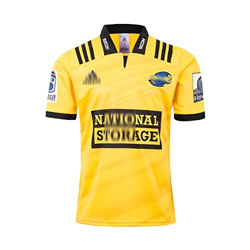 2019 Hurricanes Heim-Rugby-Trikot Das neuseeländische Schnelltrocknungshemd Herren Damen Jugend Jugend Kurzarm Rugby Shirts Rugby Uniform Gelbes Oberteil-XXXL