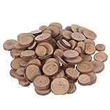 DOITOOL 100 pièces tranches de bois naturel non finis rondin de bois deco de rondins de bûches pour bricolage artisanat de Noël décorations de mariage rustiques (1.5-3cm)