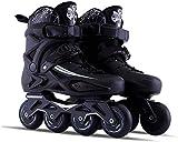 Roller Skates, Adult Outdoor Black Professional Inline Skates Roller Skates, Comfy Freestyle Rollerblades for Women and Teens,35 Eu/4 Us\/3 Uk\/22.5cm Jp