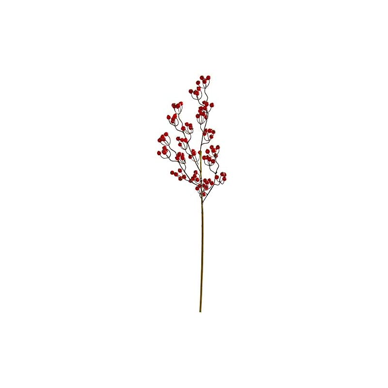 silk flower arrangements nearly natural 35-in. berry spray artificial (set of 6) silk flowers red