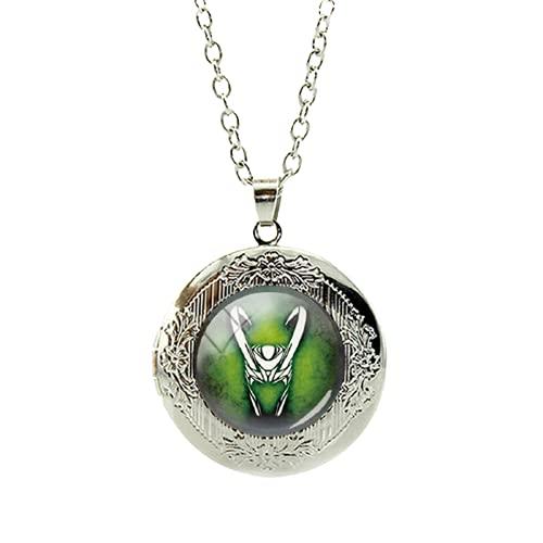 Novedad moda Loki Dios de la travesura medallón collar de cristal Cabujón colgante declaración collar de la cadena de los hombres joyería