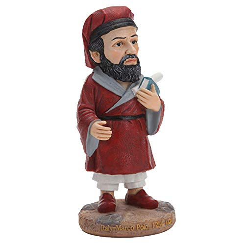 ZYBZYH Figurines Ornaments, Marco Polo Figures, Resin Sculpture, Desktop Decorations Ornament, Garden Collection Crafts