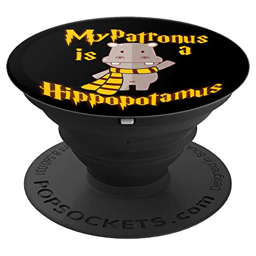 My Patronus is a Hippopotamus - Cute and adorable Gift - PopSockets Grip and Stand for Phones and Tablets