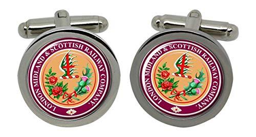 LMS London Midland et Scottish Chrome Boutons de manchette pour homme avec coffret cadeau