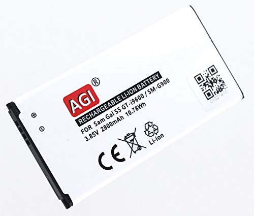 AGI - Batteria di ricambio compatibile con Samsung Galaxy S5