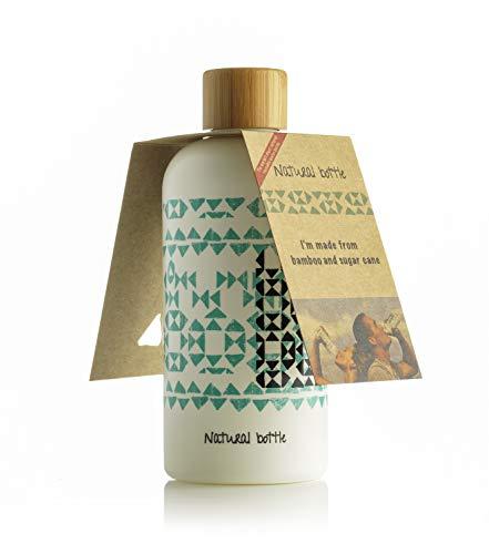 LS-LebenStil Natural Bottle - Bio Trinkflasche Wasserflasche 97% Zuckerrohr Bambus
