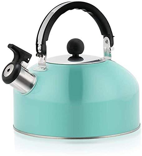Bouilloire induction Bouilloire verdoyante bouilloire bouilloire grande capacité bouilloire épaissie bouilloire plate bouilloire sifflet de kettle 18.5x19cm WHLONG
