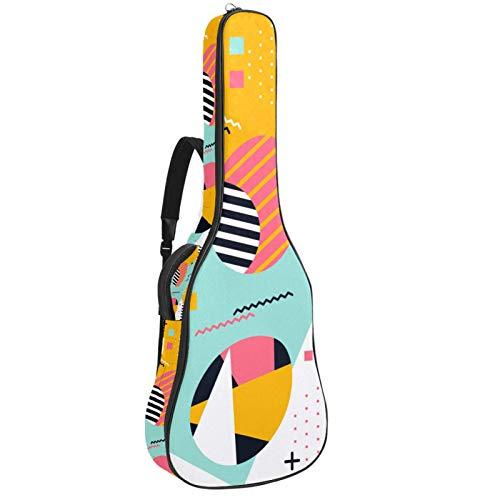 Bolsa para guitarra impermeable con cremallera, suave para guitarra, bajo, acústico y clásica, para guitarra eléctrica, bolsa Memphis, fondo de huevo de Pascua
