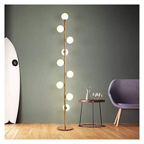 Lámpara de pie Lámpara de pie LED Moderna para Sala de Estar, Luces de Noche, iluminación Decorativa para el hogar, Accesorios de Bola de Cristal, lámparas de pie para Dormitorio nórdico