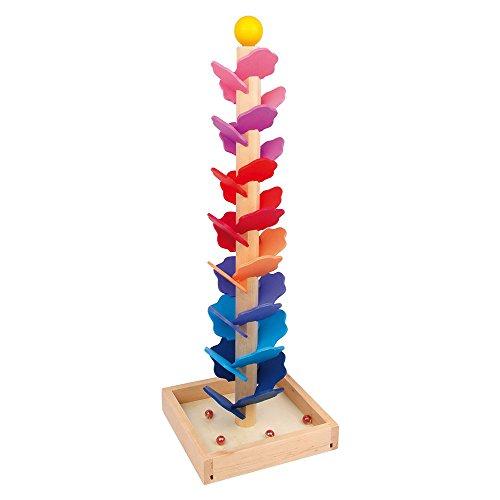 small foot 6871 Circuit à billes Mélodie en bois coloré, chacune des plaquettes laisse entendre un son différent, à partir de 3 ans
