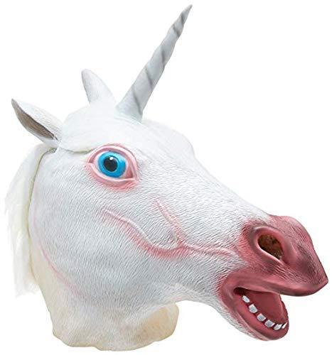 TK Gruppe Timo Klingler Einhorn Maske aus Latex, Unisex für Kinder und Erwachsene Herren & Damen für Halloween und Fasching