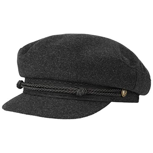 Stetson Casquette Wool Cashmere Riders Femme - Made in Italy Type Gavroche Laine Baker Boy avec Visiere, Doublure, Doublure Automne-Hiver - S (54-55 cm) Gris