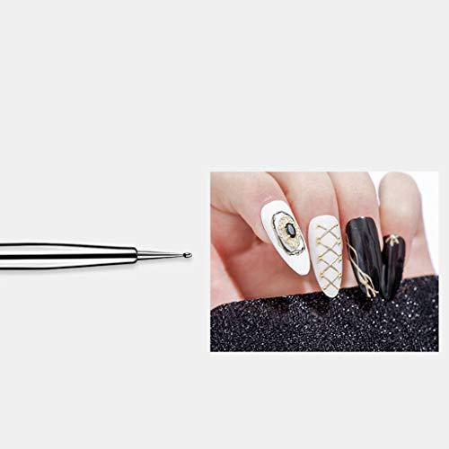 HoneyGod Nail Art Supplies with 15Pcs Brushes Set with 5Pcs Dotting Pens - 3D 2 Way Glitter Nail Diamonds Rhinestones Kit Dotting Pen Tool Dot Paint Manicure Kit Nail Art Tip Photo #6