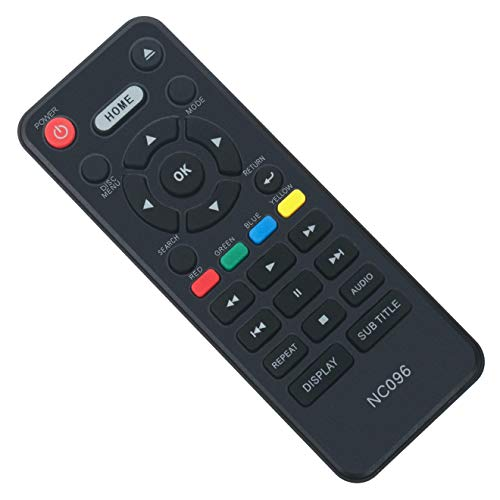 NC096UL NC096 Replace Remote Control fit for Magnavox 4K Ultra HD Blu-ray Disc DVD Player MBP6700P MBP6700P/F7 MBP6700PF7