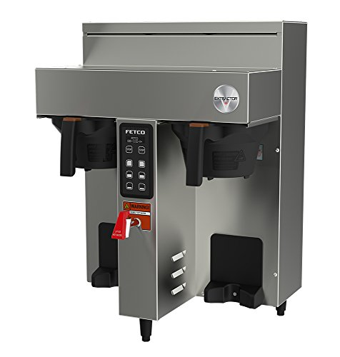 Best Bargain FETCO CBS-1132-V+ Twin 1.0 Gal Coffee Brewer (E113252), Stainless Steel, Digital Touchp...