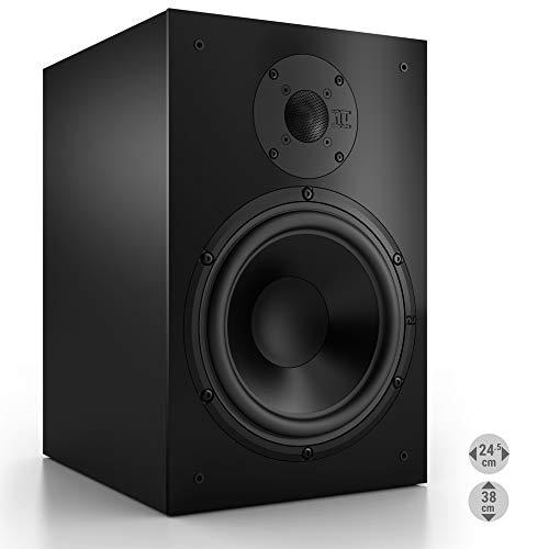Nubert nuBox 383 Regallautsprecher | Lautsprecher für Stereo & Musikgenuss | Heimkino & HiFi Qualität auf hohem Niveau | Passive Regalbox mit 2 Wege Technik | Kompaktlautsprecher Schwarz | 1 Stück