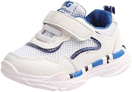 ZODOF Niño pequeño Niños Niñas Niños Zapatillas de Deporte Ocasionales Malla Corriendo Carta Zapatos Zapatos Zapatillas Respirable Mocasines Deportes Sneaker