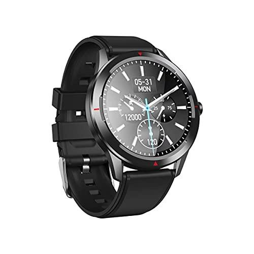 Reloj Inteligente con Pantalla táctil Completa de 1,32 Pulgadas, podómetro de Reloj con rastreador de Actividad a Prueba de Agua, Adecuado para Sistema Android e iOS