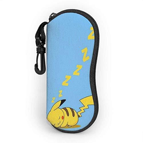 Cartoon Pikachu Brillenetui Sonnenbrille Soft Case Neopren Tragbare Reise Reißverschlusshaken