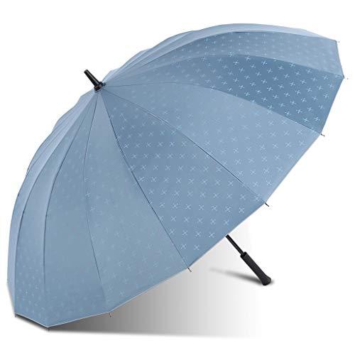 AINIYF Paraguas automático de 16 Huesos, sombrillas con Filtro Solar, sombrillas for Hombres y Mujeres (Color : Light Blue)