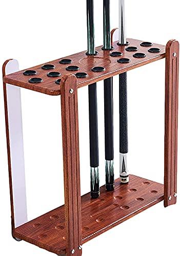 CDFC Racks de Cue de Billar - Pool Cue Soporte Solid Wood Premium Billiard Stand Tiene 18 señales, Accesorios de Mesa de Billar Soporte de Cue de Snooker - 23'× 9' × 23',A