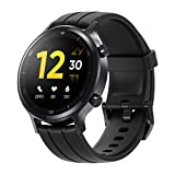 realme Watch S - Reloj inteligente con Bluetooth, pantalla táctil de brillo automático de 1.3 ', 16 modos deportivos, IP68 a prueba de agua, hasta 15 días de duración de la batería, negro