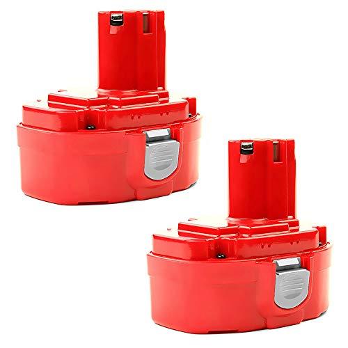 CELLONIC 2X Batería Premium 18V, 3Ah, NiMH Compatible con Makita 8391D, 6347D, 8444D, 6390D, 8443D, ML180, 4334D bateria de Repuesto 1822, 1833, 1834, 1835 Pila