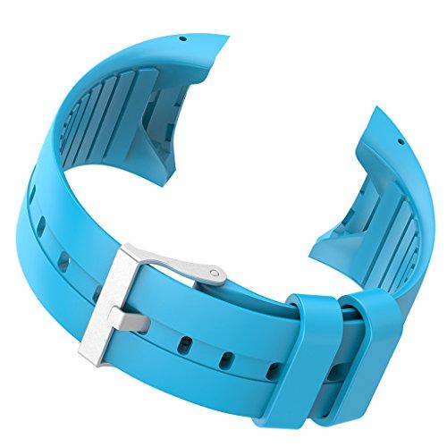 Uhrenarmband Ersatzteile aus Weiche Gummi für Polar M400 M430 Smart Watch - Farben Auswählen - Blau