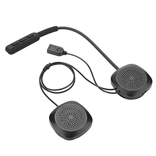 Cerlingwee Casco Auriculares Moto Deporte Manos Libres Bluetooth Casco Auriculares Casco Altavoz Auriculares Bluetooth Banco de energía para Viajes al Aire Libre