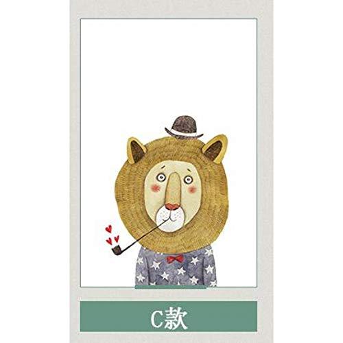 KUNHAN Raamfolie Raamsticker Aangepaste Cartoon Dier Frosted Glas Raamfolie, Elektrostatische Zelfklevende Mr.Fox Window Stickers, Schuifdeur Garderobe folie