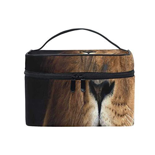 Sac de maquillage Lion Fonds d'écran Sac cosmétique Grand sac de toilette portable pour les femmes/filles Voyage