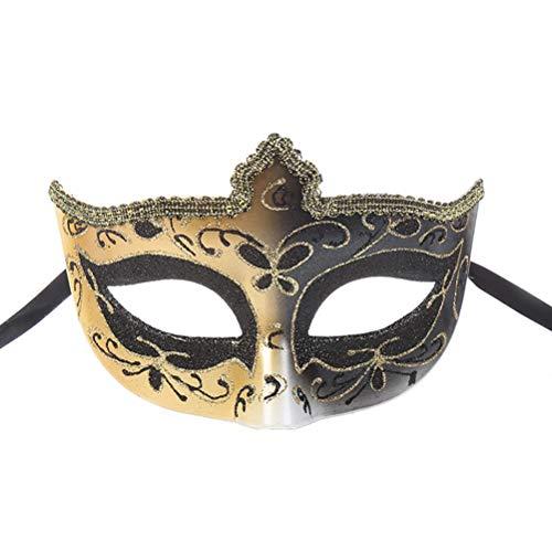 Máscara de Halloween para niños y adultos, diseño de corona con forma de media cara, para Halloween
