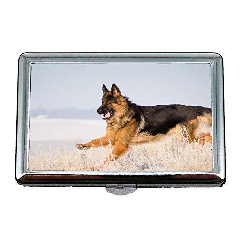 Zigarettenetui (King Size), Weimaraner Hund Deutscher Schäferhund, Kreditkartenschutz