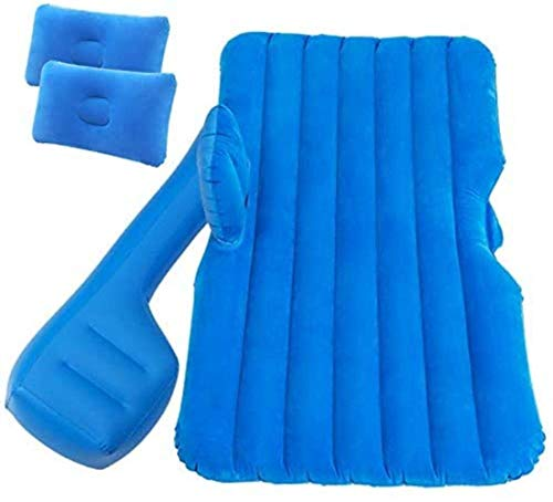JIAMING Travel bed Car Inflatable Bed In-vehicle Inflatable Bed, Back Seat, Sleeping, Air-cushion Bed, Back Row Travel Bed, Car Mattress, Car Sofa 5-12 (Color : Blue) (Color : Blue