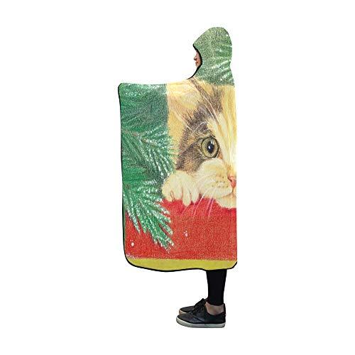 JOCHUAN Mit Kapuze Decke Erwartung Urlaub Handzeichnung Bleistifte Decke 60 x 50 Zoll Comfotable Hooded Throw Wrap