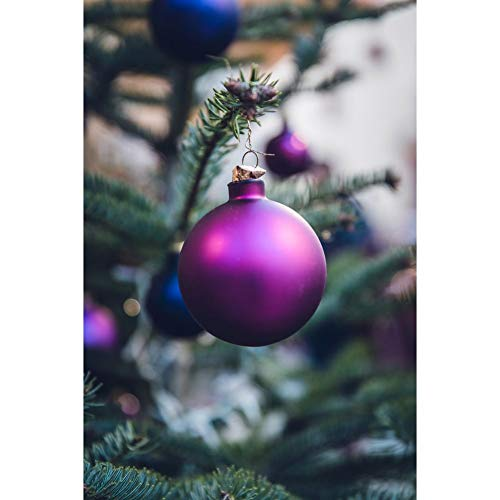 Jestang Kit de pintura de diamante 5D, kit de pintura de diamante para niños para decoración de la pared del hogar colorido árbol de Navidad 30 x 39,9 cm