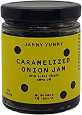 Caramelized Onion 8oz Spread - All Natural Onion Jam - Real Caramelized Onion - JAMMY YUMMY- Made with Onions, Sugar, Extra Virgin Olive Oil and Salt…