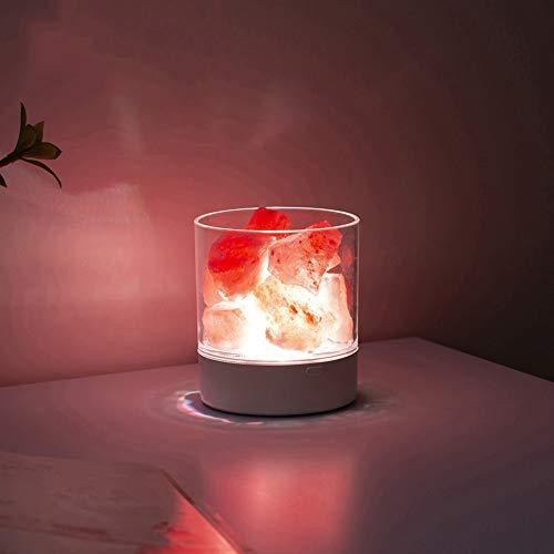 MIAO. Himalaya kristal zout steen natuurlijke zout blok, slaapkamer tafel lamp, nachtlamp