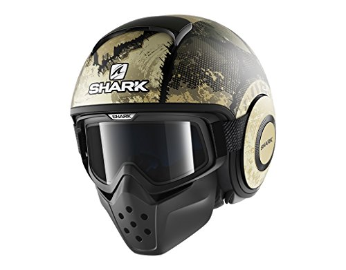 Shark 2656_26734, Casco Moto Hark Drak Evok Mat. Uomo, Nero/Verde, M