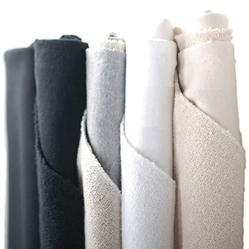 Sweat-shirt à boucle arrière, Tissu Molleton épais 100% coton et côtes assorties, 490G (17 Ounce) Tissu britannique Tomiest Heritage le plus lourd fabriqué par Neotrims
